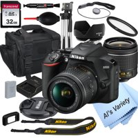 Nikon D3500 DSLR Camera with 18-55mm VR Lens + 32GB Card, Tripod, Case, and More (18pc Bundle)