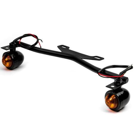 Krator Black Driving Passing Lamp Spot Light Bar Bracket with Turn Signals Motorcycle for Honda Shadow Aero Phantom VLX 750