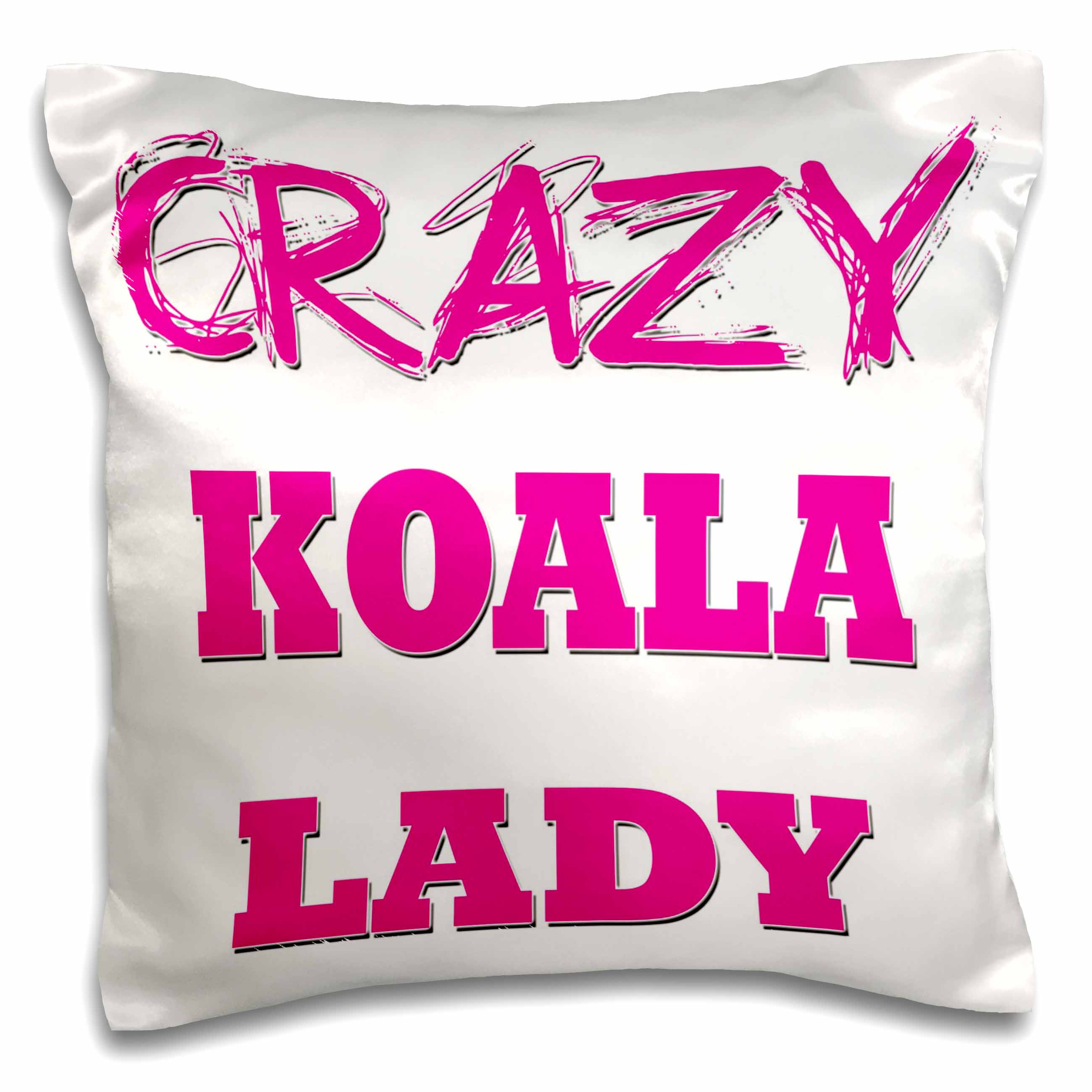 3drose Crazy Koala Lady Pillow Case 16 By 16 Inch