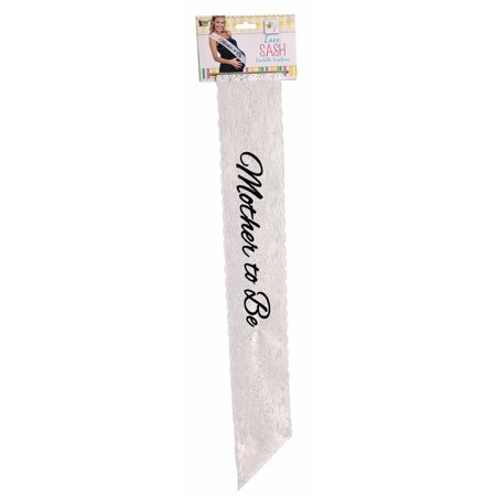 Mother to Be Sash for the Special Mommy to Be in Black and White