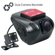 Acumen FHD 1080p Dual Dash Cam, Dashboard Camera Recorder with Sony Exmor Sensor, 4-Lane Wide-Angle View Lens. Rear Camera, G-Sensor, WDR, Loop Recording, Night Vision, Motion Detection, Parking Mo...