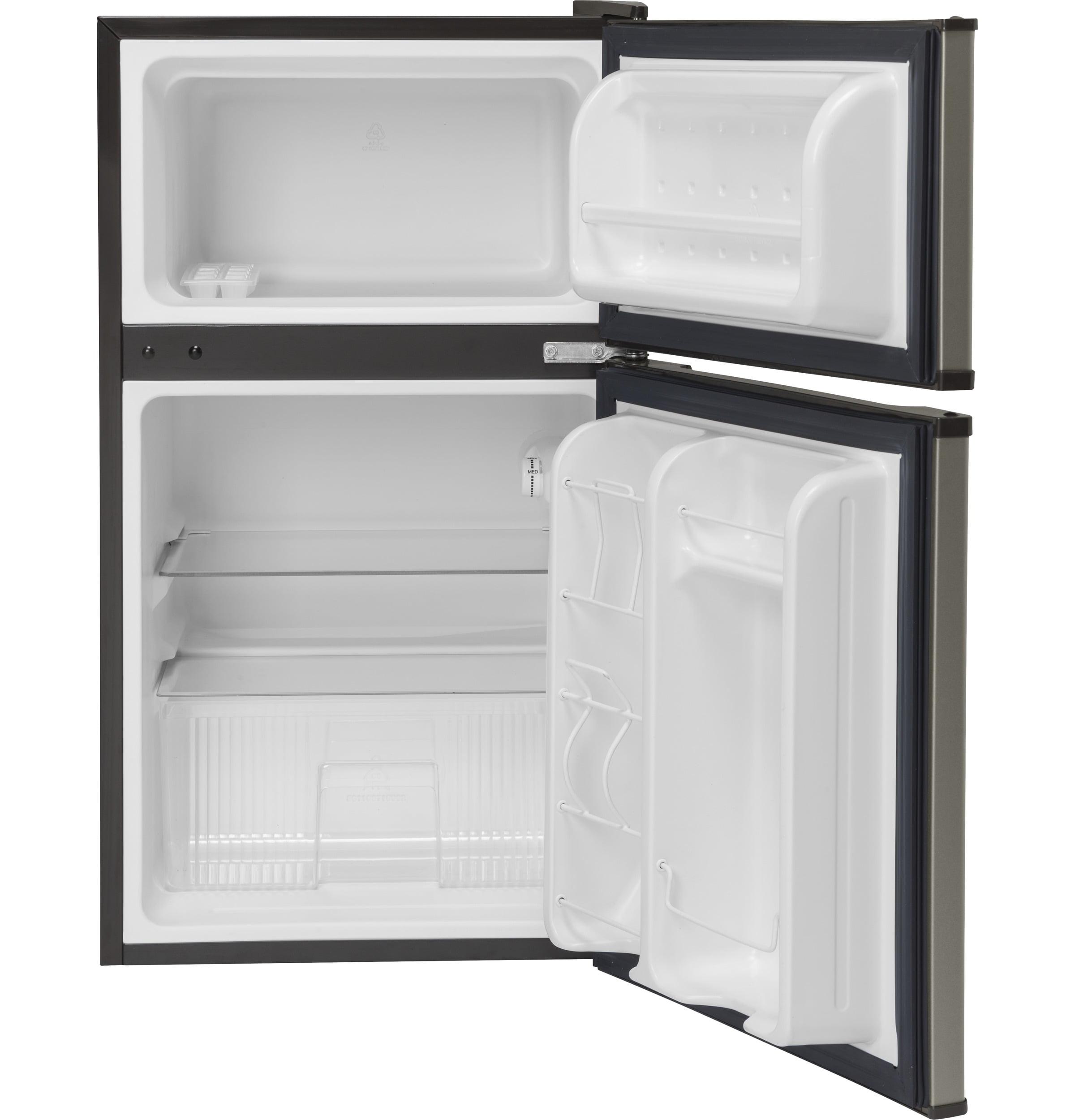 Double Door Compact Refrigerator True Slate Fridge Compartment Home Kitchen  New