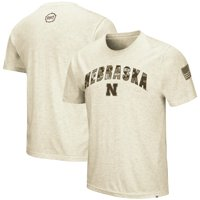 Nebraska Cornhuskers Colosseum OHT Military Appreciation Desert Camo T-Shirt - Heathered Oatmeal