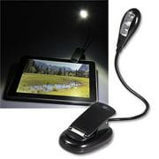 Insten Reading Light Clip On Flexible Book Tablet Reading LED Light, Black