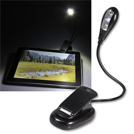 Insten Reading Light Clip On Flexible Book Tablet Reading LED Light, Black