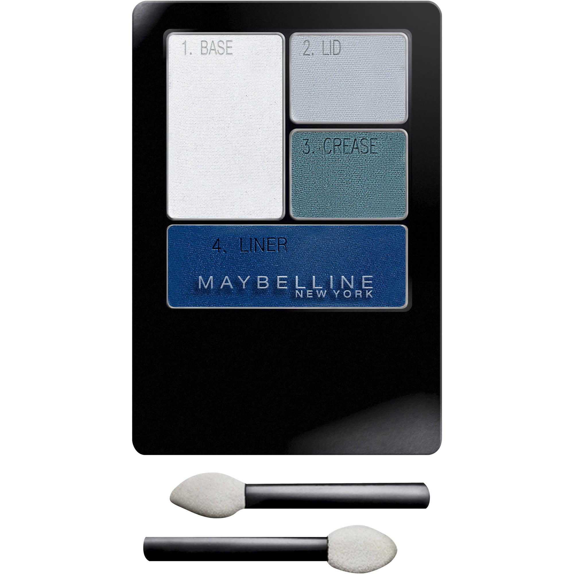 Maybelline New York Expert Wear Eyeshadow Quads, Olive Martini, 0.17 oz