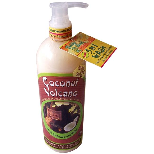 Bubble Shack Hawaii 689076049788 Coconut Volcano 5 in 1 Wash - Pack of 2