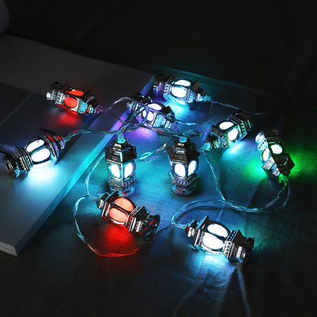 10Pcs/Set Ramadan LED Light Multicolor String Lights Muslim Islam Ramadan Days Indoor Outdoor Decor - image 6 de 8