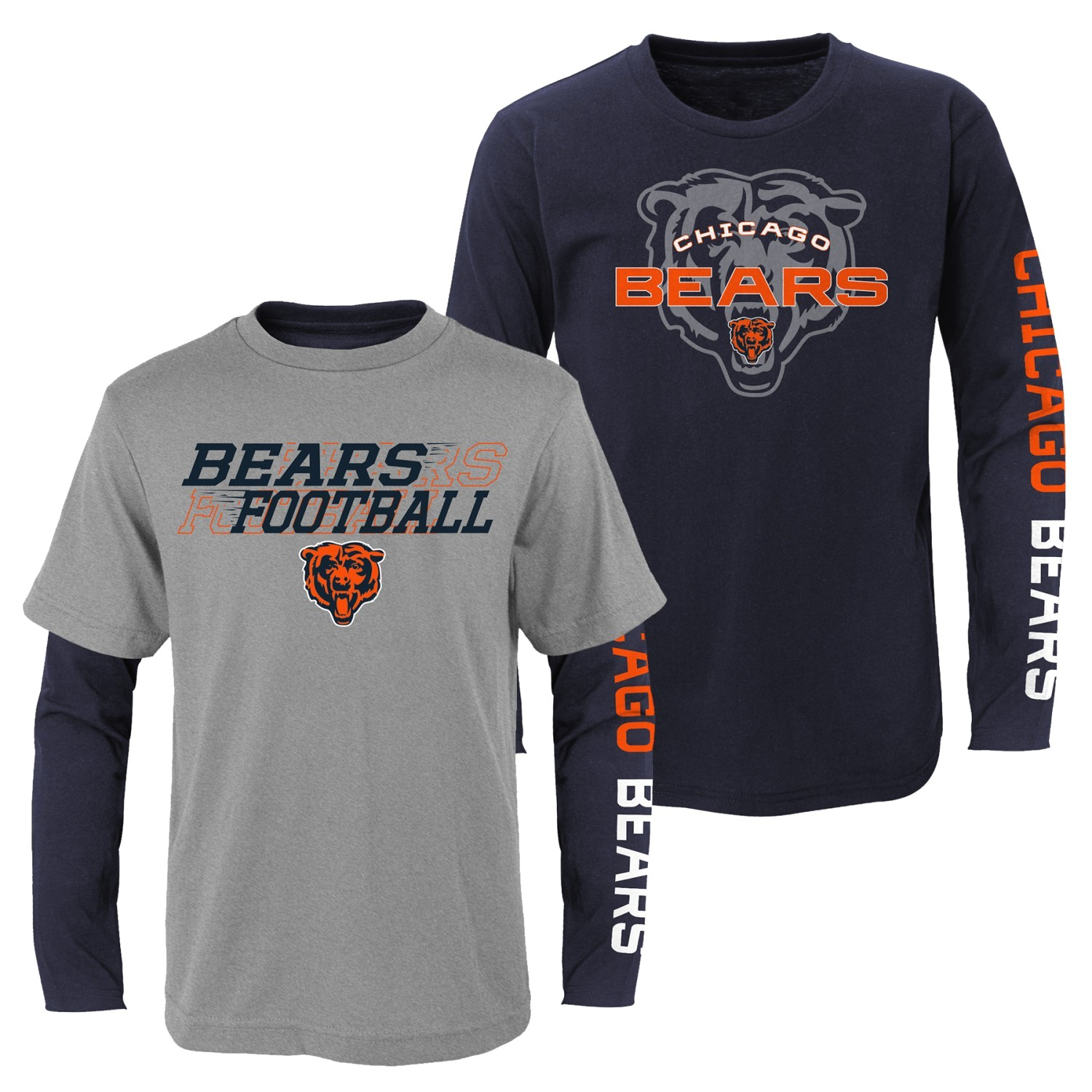 """Chicago Bears Youth NFL """"United"""" 3 in 1 T-Shirt Combo Set"""