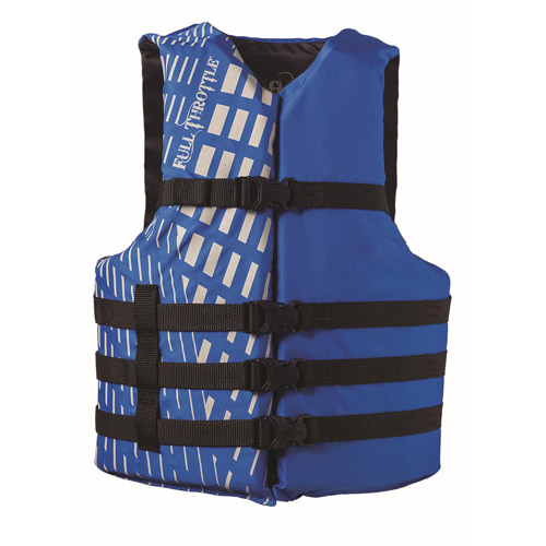 Full Throttle Adult Blue Universal Nylon Water Sports Vest by Full Throttle