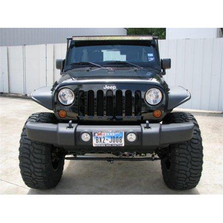 N-Fab Windshield Mount 07-17 Jeep Wrangler JK 4 and 2 Door - Tex. Black - 50in Rigid LED (4 Door Jeep)