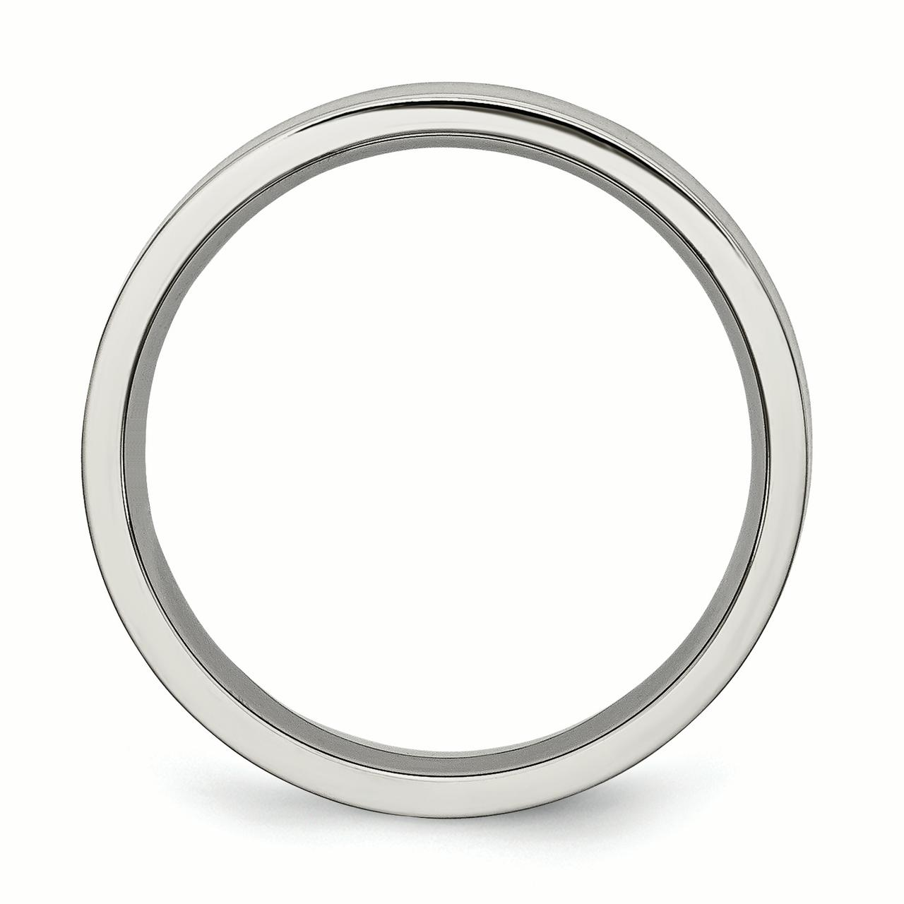 Titanium Flat 5mm Brushed Wedding Ring Band Size 10.00 Classic Fashion Jewelry Gifts For Women For Her - image 1 of 7