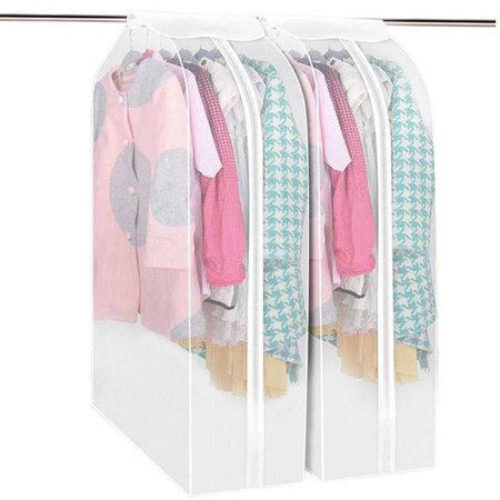 Hanging Garment Bags for Storage 43 inch Dust-Proof Large Garment Rack Cover Suit Bags Organizer Hanging Clothes Cover for Suit Coats Jackets Dress Closet Storage