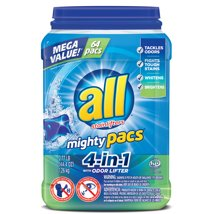 Laundry Detergent: All Mighty Pacs 4-in-1