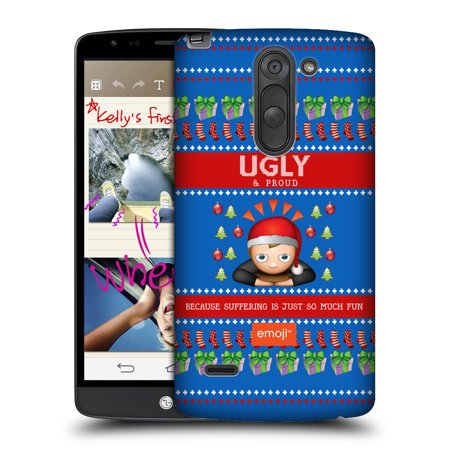 Gingerbread Emoji (OFFICIAL EMOJI UGLY CHRISTMAS HARD BACK CASE FOR LG PHONES)