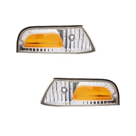 NEW SIDE MARKER LIGHT SET OF 2 FITS FORD CROWN VICTORIA SPECIAL EDITION FO2521147 FO2520147 XW7Z-15A201-AB XW7Z-15A201-BB XW7Z 15A201 AB (Ford Crown Victoria Trunk)
