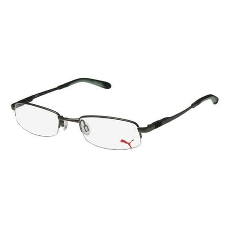 New Puma 15374 Svetlo Mens/Womens Designer Half-Rim Gray Adjustable Nosepads Trendy Frame Demo Lenses 49-19-140 Eyeglasses/Eye Glasses - Baby Eyes Grey Halloween Contact Lenses