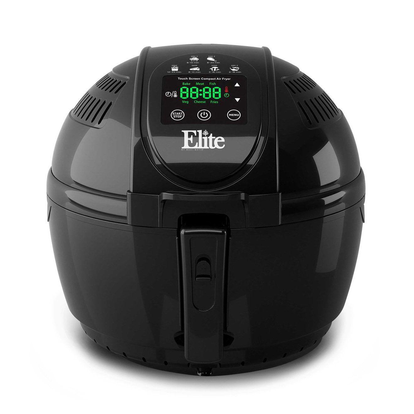 Maxi-Matic Elite EAF-1506D 3.5 Quart 1400 Watt Digital Electric Air Fryer, Black