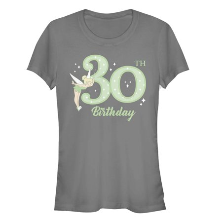 Peter Pan Juniors' Tinker Bell 30th Birthday T-Shirt (Peter Pan Tinkerbell)