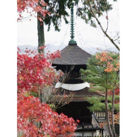 Autumn Maple Leaves at 16th Century Jojakko Ji Temple, Arashiyama Sagano Area, Kyoto, Japan Print Wall Art By Christian Kober