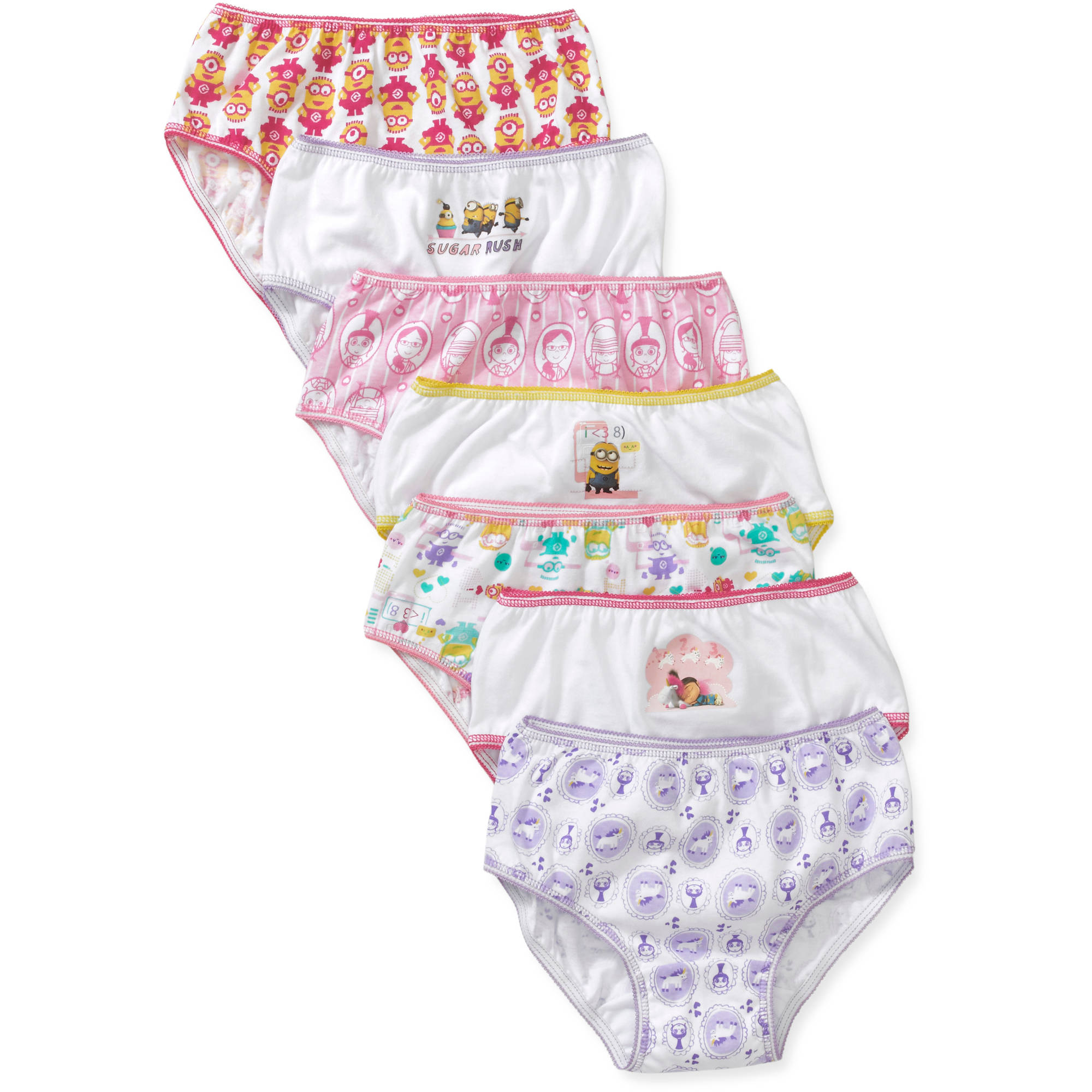 Despicable Me Girls' Underwear, 7 Pack