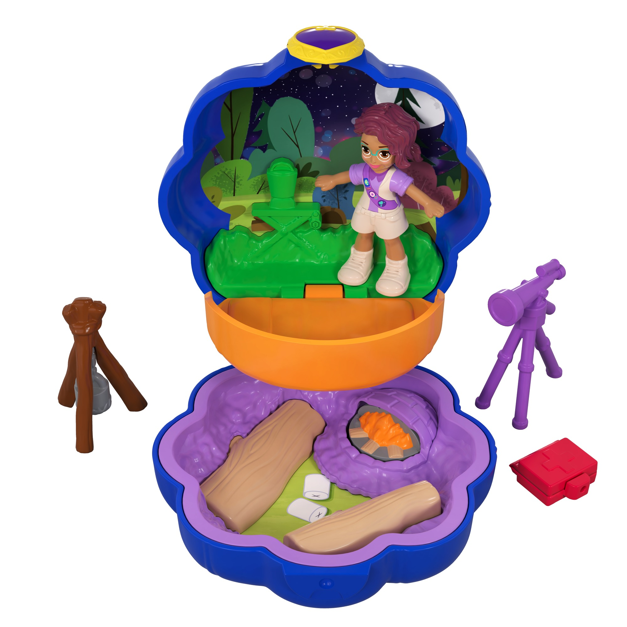 Polly Pocket Tiny Pocket Places Picnic Compact with Shani Doll