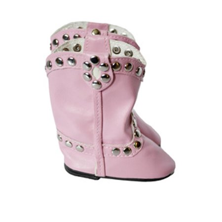 7f84081623b1e My Brittany's Pink Western Stud Boots for American Girl Dolls and My Life  as Dolls- 18 inch doll shoes and boots to compliment 18 inch Doll clothes  ...