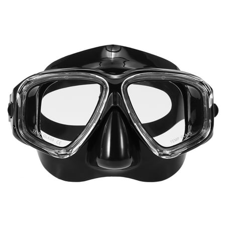 Lixada Adults Freediving Mask Anti-fog Diving Snorkeling Scuba Swimming Mask Tempered Glass Lens Goggles for Men