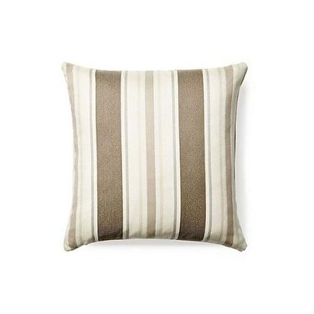Rennie & Rose Outdoor/Indoor Fabrics Cayman/Stripe Outdoor Stuffed Pillow, 18-Inch, Sand - image 1 de 1