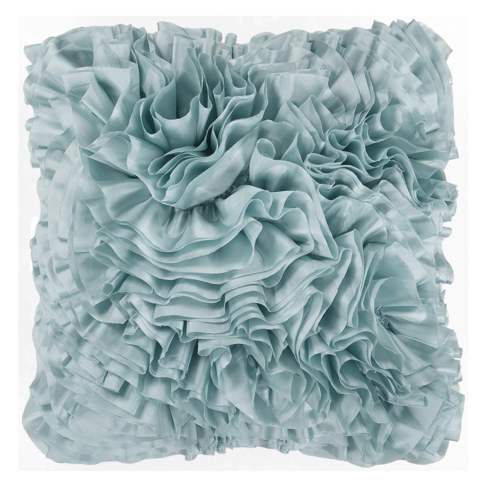 Surya Ruffles Decorative Pillow - Light Blue