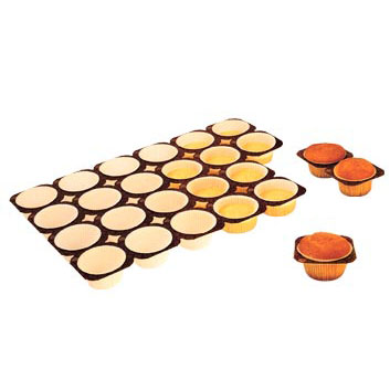 Paper Muffin Baking Tray 1.8 Oz, 24 Cavities, Case Of 100
