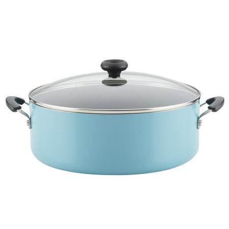 Aqua Pot - Farberware Easy Clean Aluminum Nonstick Stockpot, 8-Quart, Aqua