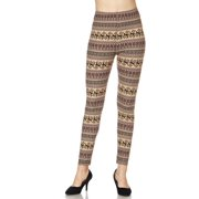 Cali Chic Juniors' Leggings Reindeer Multi Print Yummy Brushed Ankle Leggings