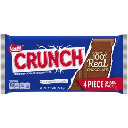 Crunch Chocolate Candy Bar, 2.75oz (Box of 18) - Candy Crush Halloween Sale