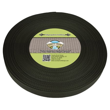 - Country Brook Design® 3/4 Inch Dark Olive Drab Polypropylene (Polypro) Webbing