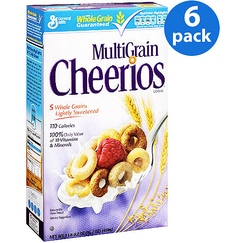 Multigrain Cheerios Cereal, 16.2 oz (Pack of 6)