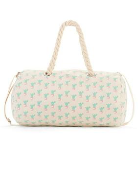9d1fa91037fd Product Image No Boundaries Tan Cactus Rope Handle Duffle Bag