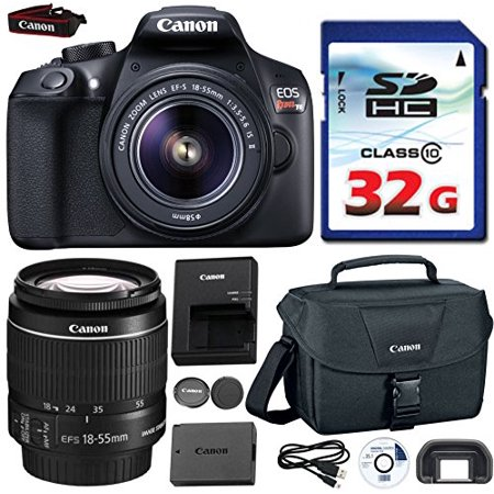 (Canon EOS Rebel T6 DSLR 18mp WiFi Enabled + EF-S 18-55mm IS [Image Stabilizer] II Zoom Lens + Canon Professional Gadget Bag + Commander 32GB Class 10 Ultra High Speed Memory Card)