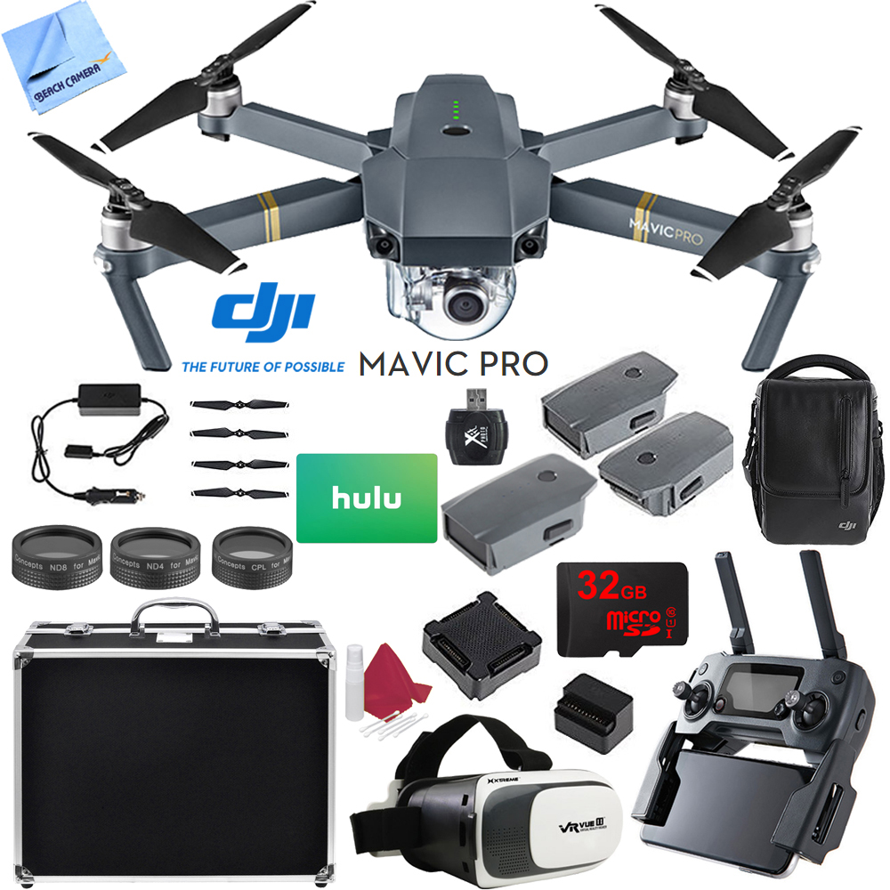 DJI Mavic Pro 4K Camera Quadcopter Drone 2 Extra Batteries Super Pack by DJI