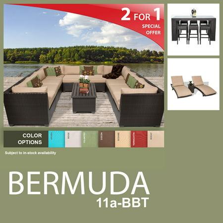 Bermuda 21 Piece Outdoor Wicker Patio Furniture Package Bermuda 11A Bbt