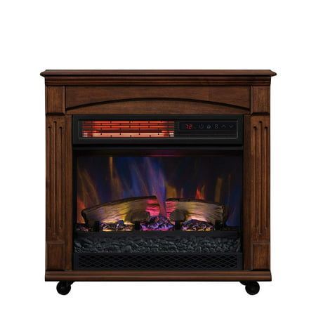 brand new e8807 8c913 ChimneyFree Rolling Mantel, Infrared Quartz Electric Fireplace Space Heater