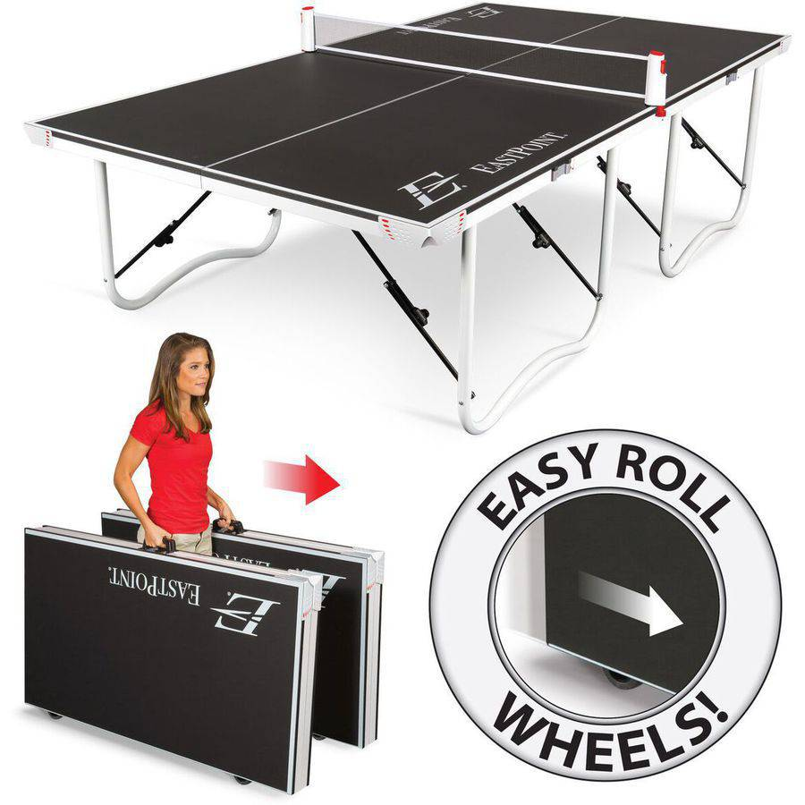 EastPoint Sports Fold 'N Store Table Tennis Table, 18mm