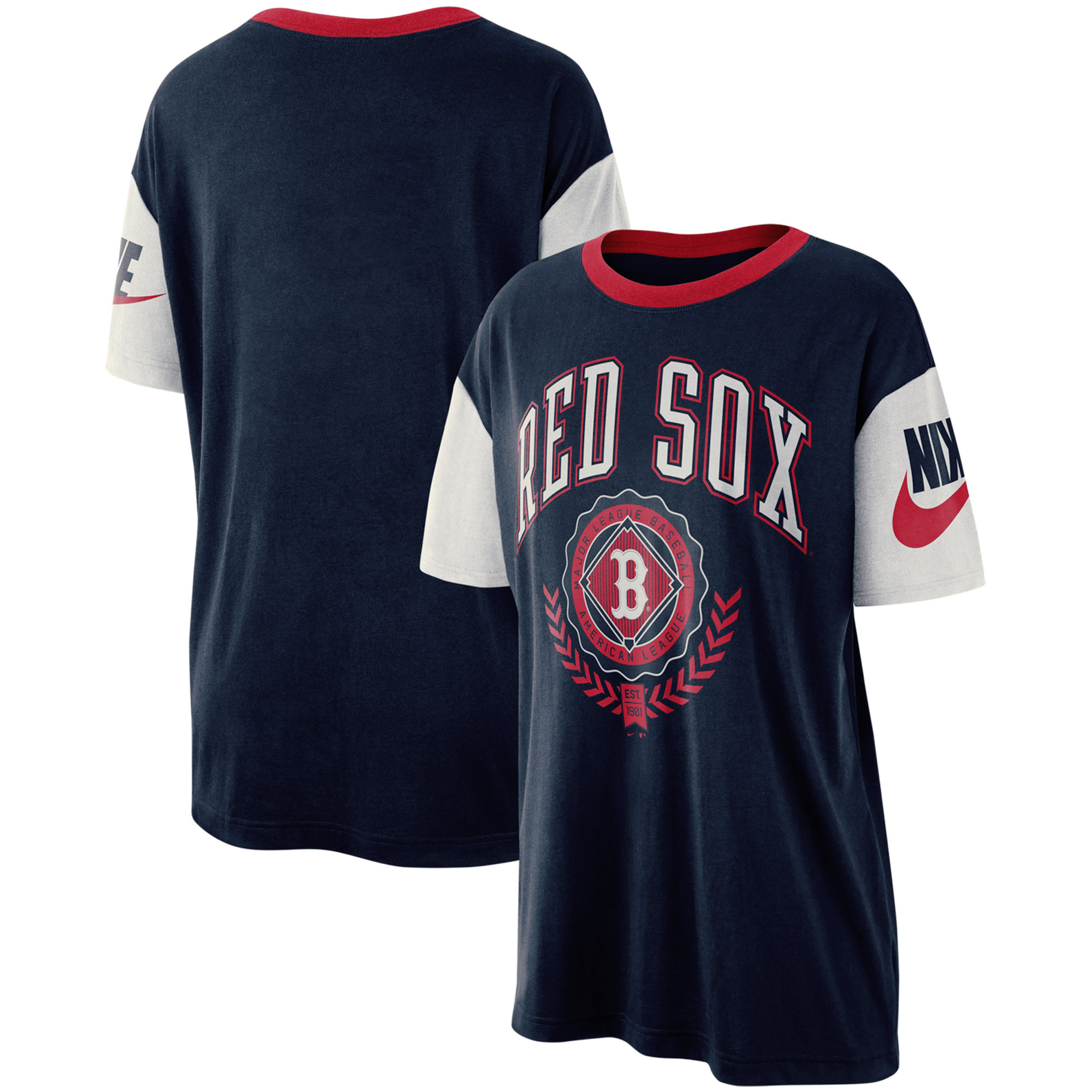 Boston Red Sox Nike Women's Walk-Off Boycut T-Shirt - Navy