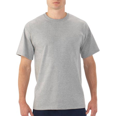 New  Fruit Of The Loom Platinum Eversoft Big Mens Short Sleeve Crew T Shirt