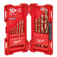 Milwaukee Cobalt Drill Bit - Milwaukee 48-89-2331 Jobber Length Drill Bit Set, Cobalt Steel, 15-Piece, For All Twist Drilling