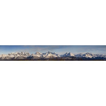 Panoramic View Of The Chugach Mountain Range Above Anchorage Alaska During Spring Posterprint