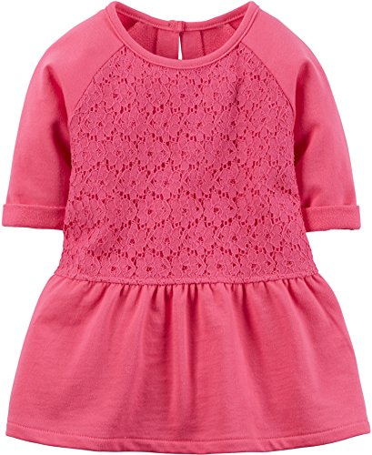 "Carter's Little Girls' ""Floral Lace"" Tunic - pink, 6"