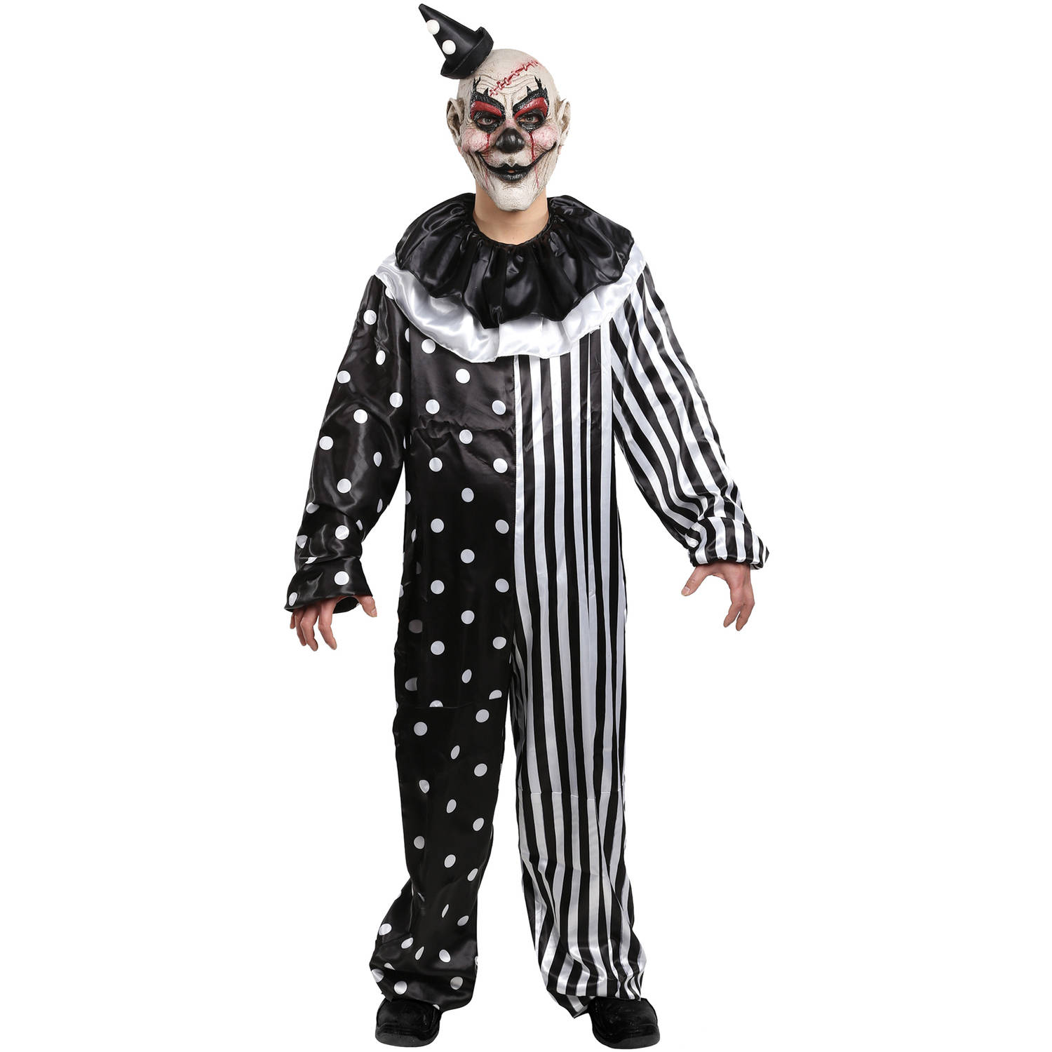 kill joy clown costume adult halloween costume - walmart
