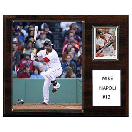 C And I Collectables Mlb 15W X 12H In  Mike Napoli Boston Red Sox Player Plaque
