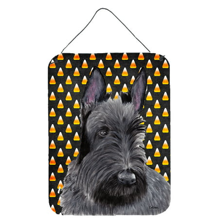 Scottish Terrier Candy Corn Halloween Portrait Wall or Door Hanging Prints - Scottish Name For Halloween